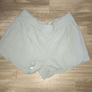 Baby Blue Scalloped Shorts